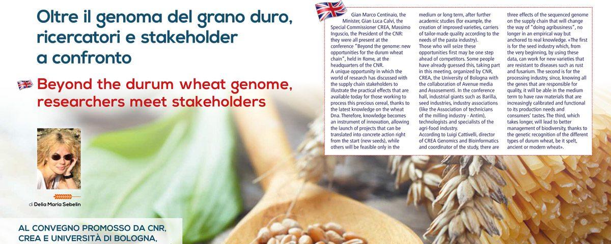 Oltre il genoma del grano duro ricercatori e stakeholder a confronto antim
