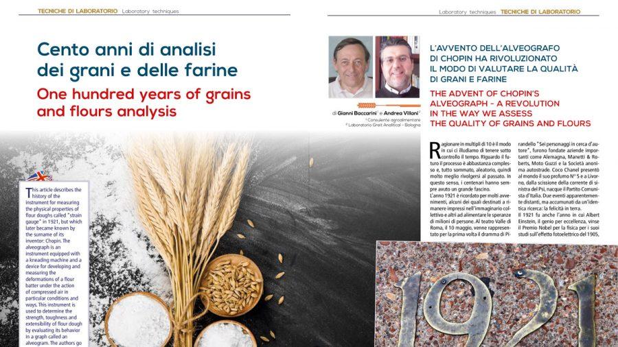 Cent'anni di analisi dei grani e delle farine